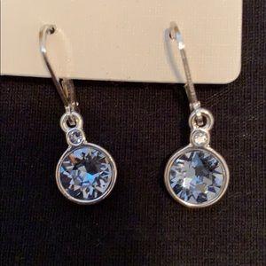 Jewelry - NWT Sterling Silver Crystal Drop Earrings